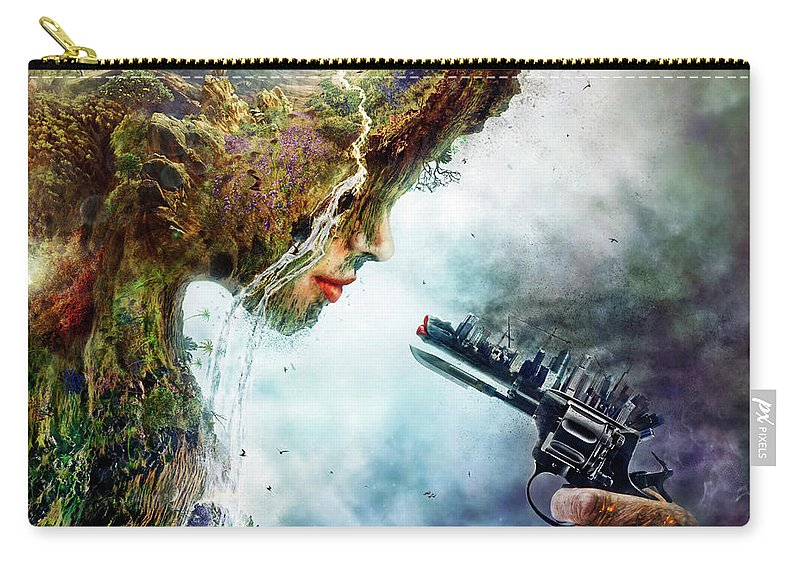 Betrayal Carry-all Pouch featuring the digital art Betrayal by Mario Sanchez Nevado