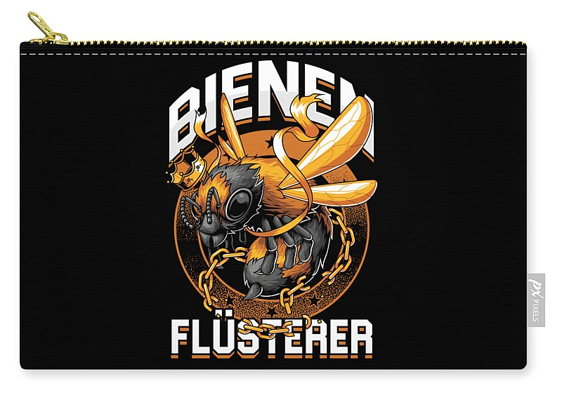 Bee Carry-all Pouch featuring the digital art Bienen Flsterer Bee Beekeeper Honeycomb Gift by Thomas Larch