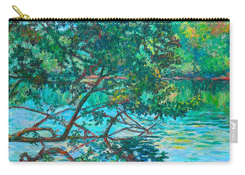Landscape Carry-all Pouch featuring the painting Bisset Park by Kendall Kessler
