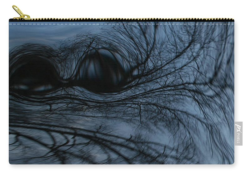 Tree Art Carry-all Pouch featuring the photograph Black and blue by Linda Sannuti