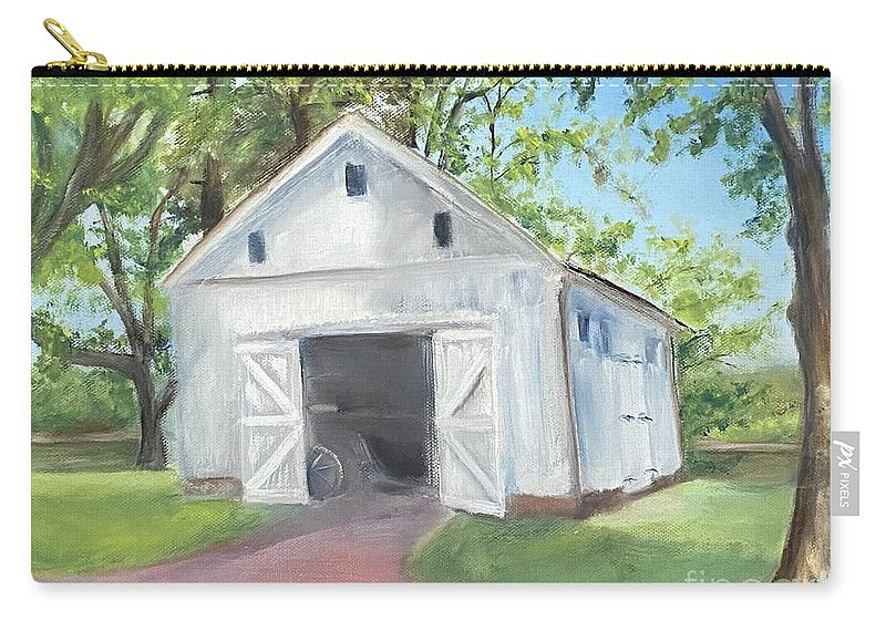 Washington Crossing Carry-all Pouch featuring the painting Boat Barn by Sheila Mashaw