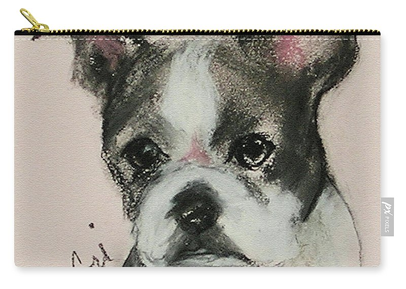 Pastel Carry-all Pouch featuring the drawing Bostonian by Cori Solomon