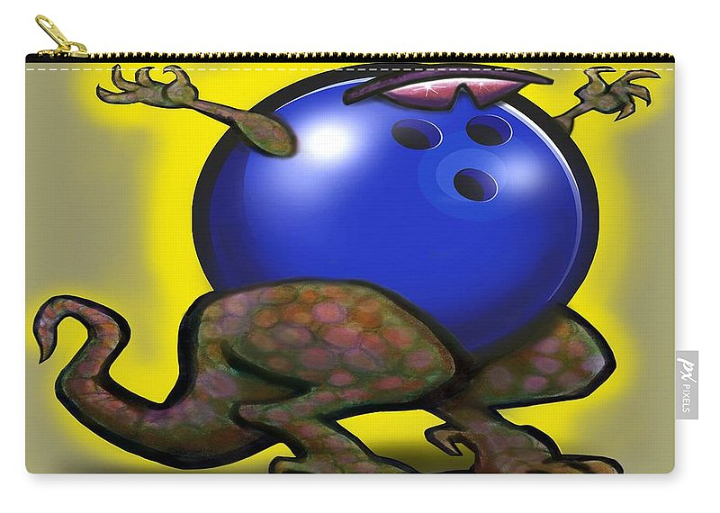 Bowl Carry-all Pouch featuring the digital art Bowling Beast by Kevin Middleton