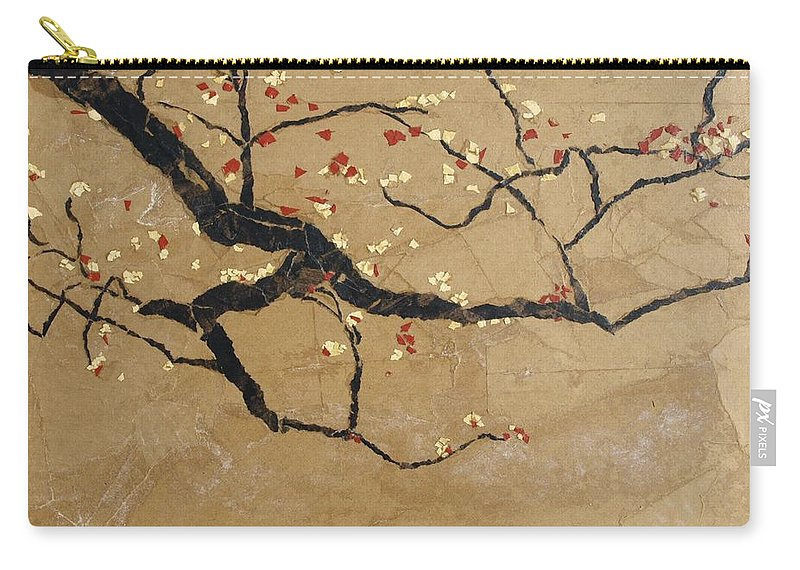 Blooming Branch Carry-all Pouch featuring the painting Branch by Leah Tomaino