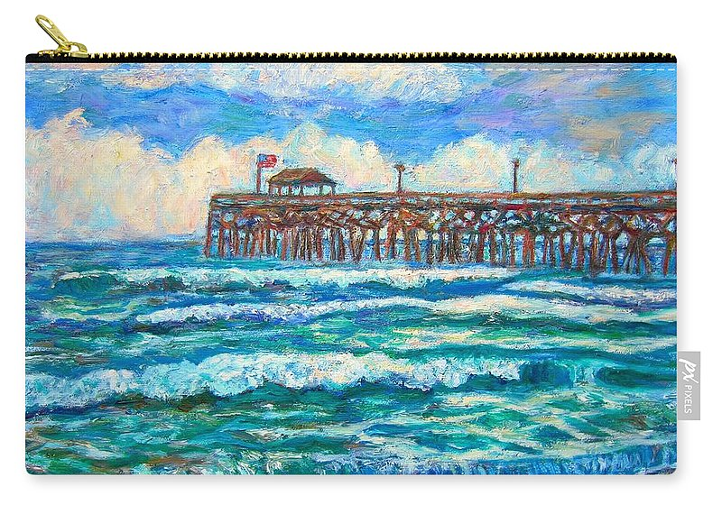 Shore Scenes Carry-all Pouch featuring the painting Breakers at Pawleys Island by Kendall Kessler
