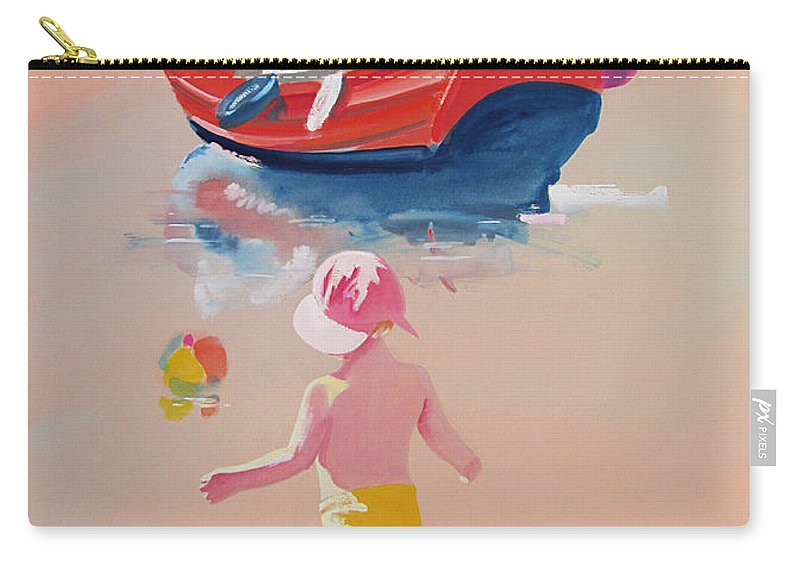 Boat Carry-all Pouch featuring the painting Bridlinton Red by Charles Stuart