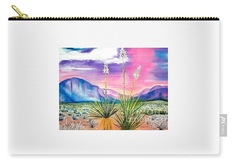 Desert Carry-all Pouch featuring the painting Bright Desert by Melinda Etzold