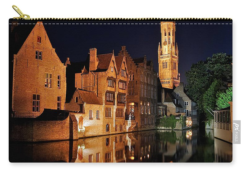 3scape Photos Carry-all Pouch featuring the photograph Brugge Night by Adam Romanowicz