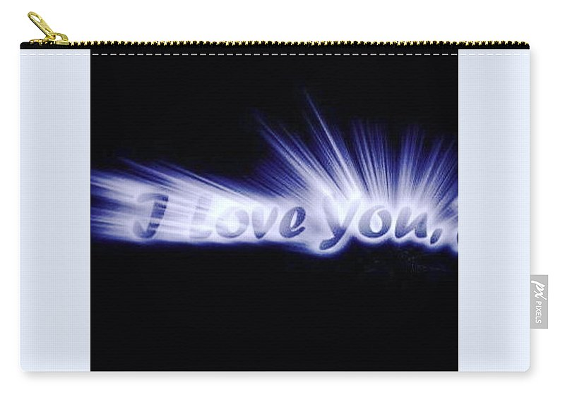 Love Carry-all Pouch featuring the digital art Burst Of Love by Ariana Torralba