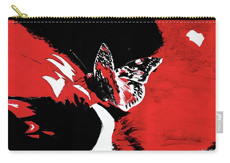 Nature Carry-all Pouch featuring the painting Butterfly1 by Anil Nene