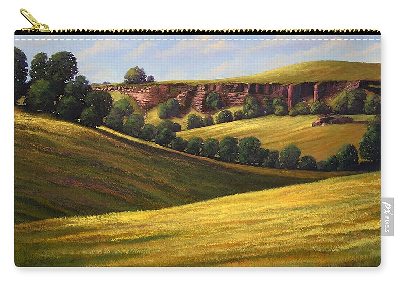 Landscape Carry-all Pouch featuring the painting Canyon Oaks by Frank Wilson