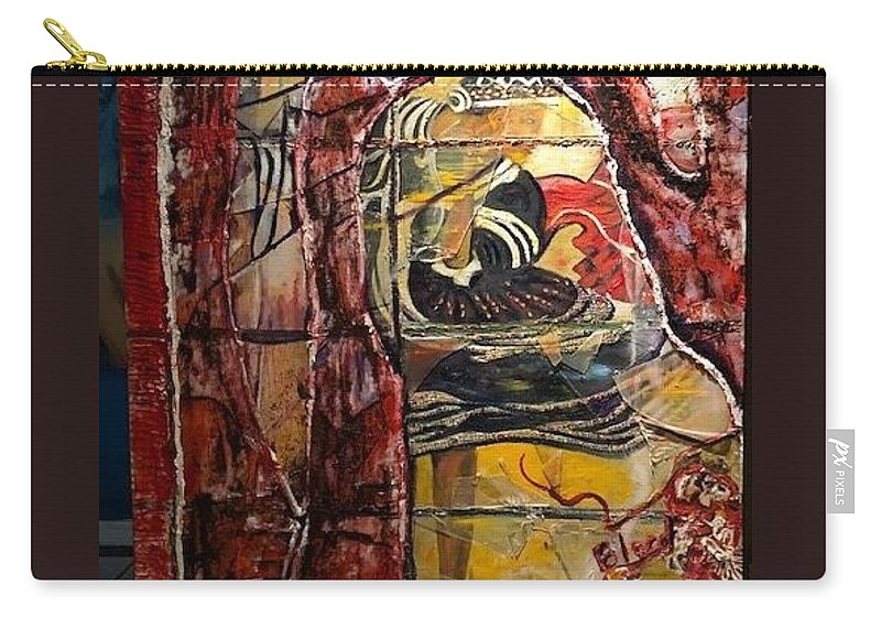 Dancing Carry-all Pouch featuring the painting Celebration by Peggy Blood
