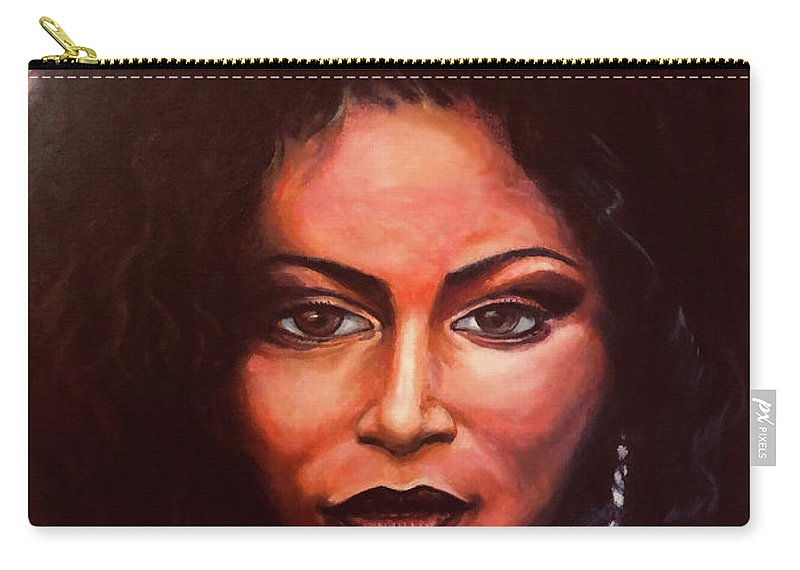 Chaka: Original 24x36in. Oil On Canvas Panel By Lloyd Deberry Carry-all Pouch featuring the painting Chaka by Lloyd DeBerry