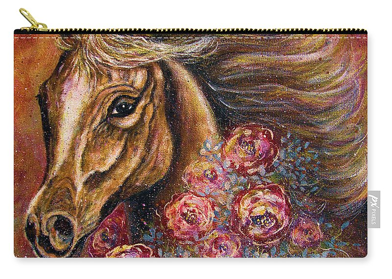 Horse Carry-all Pouch featuring the painting Champion by Natalie Holland