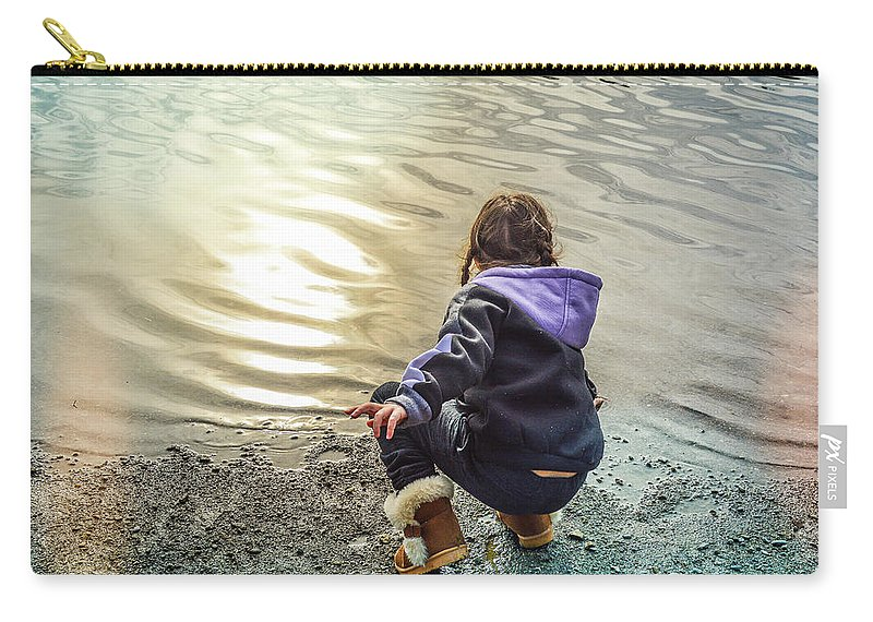Child Carry-all Pouch featuring the photograph Chasing River Rainbows by Cindy Nunn