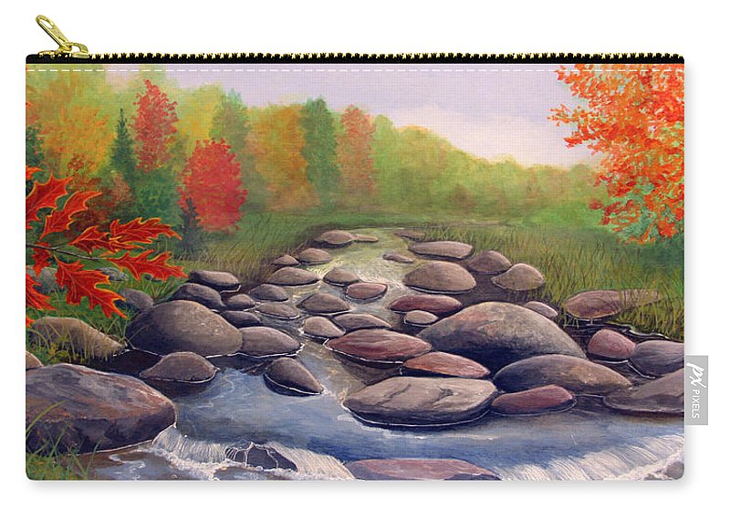Rick Huotari Carry-all Pouch featuring the painting Cherokee Park by Rick Huotari