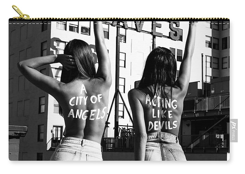 Carry-all Pouch featuring the photograph City of Angels by Brendan North