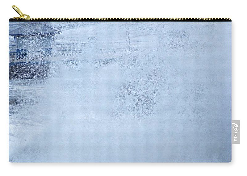 Waves Carry-all Pouch featuring the photograph Close one by Christopher Rowlands