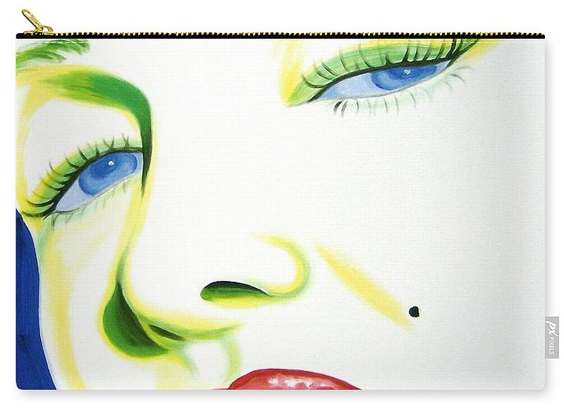 Holly Picano Carry-all Pouch featuring the painting Marilyn Monroe by Holly Picano