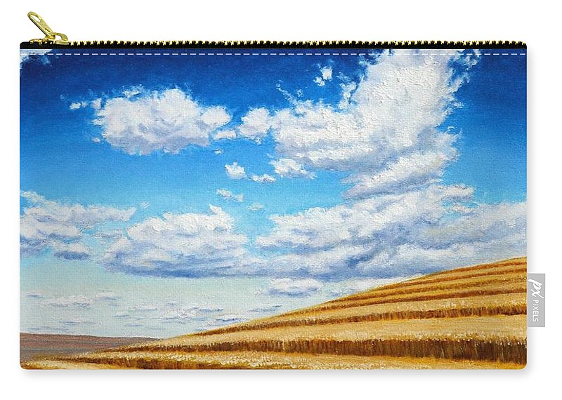 Palouse Carry-all Pouch featuring the painting Clouds on the Palouse near Moscow Idaho by Leonard Heid