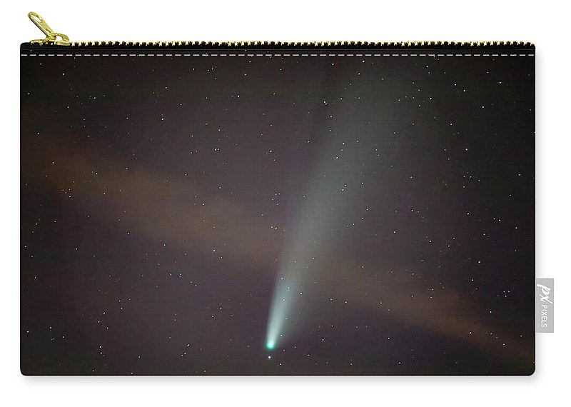 Comet Carry-all Pouch featuring the photograph Comet Neowise by Nunzio Mannino