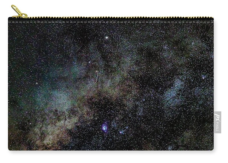 Milky Way Carry-all Pouch featuring the photograph Core of the Summer Milky Way by Nunzio Mannino
