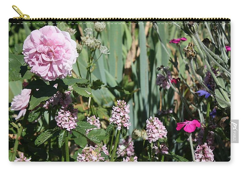 Cottage Garden Carry-all Pouch featuring the photograph Cottage Garden by Vicki Cridland