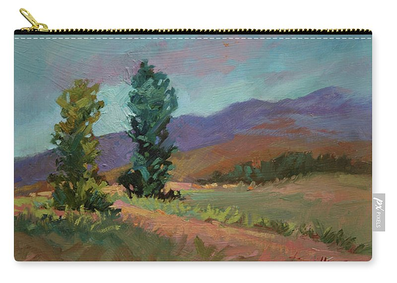 Cottonwood Paintings Carry-all Pouch featuring the painting Cottonwoods by Betty Jean Billups