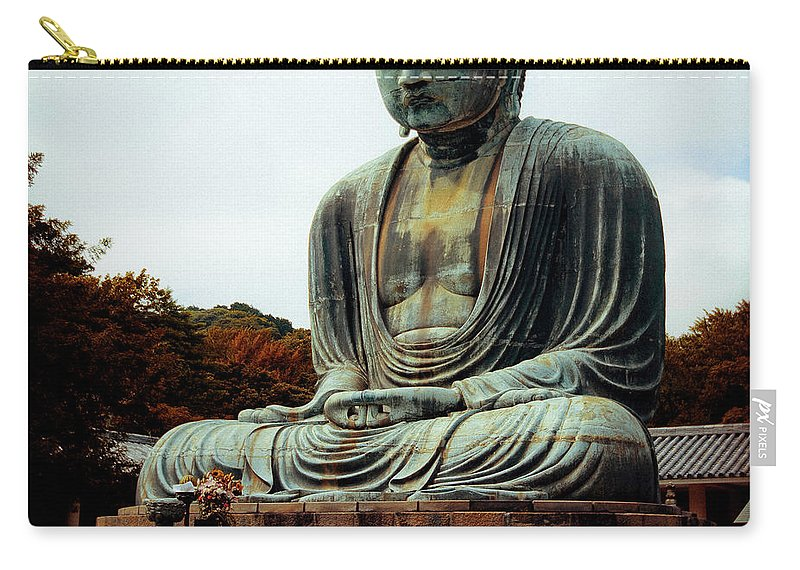 Nate Spotts Carry-all Pouch featuring the photograph Daibutsu by Nathan Spotts