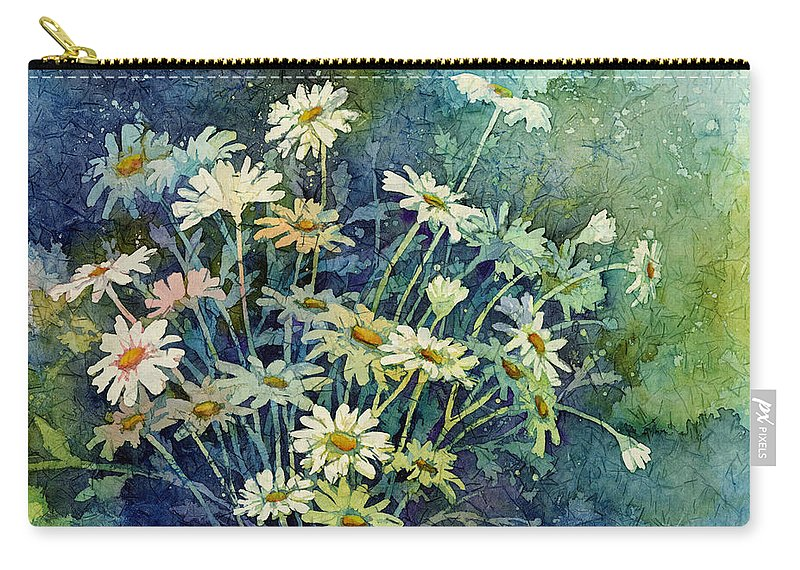 Daisy Carry-all Pouch featuring the painting Daisy Bouquet by Hailey E Herrera