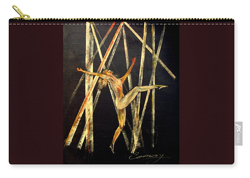 Female Carry-all Pouch featuring the painting Dancer in Light by Tom Conway