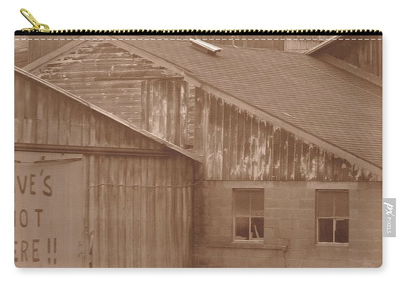 Barn Carry-all Pouch featuring the photograph Dave by Rhonda Barrett