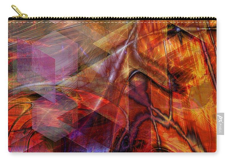 Deguello Sunrise Carry-all Pouch featuring the digital art Deguello Sunrise by John Robert Beck