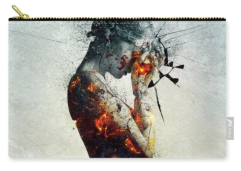Deliberation Carry-all Pouch featuring the digital art Deliberation by Mario Sanchez Nevado