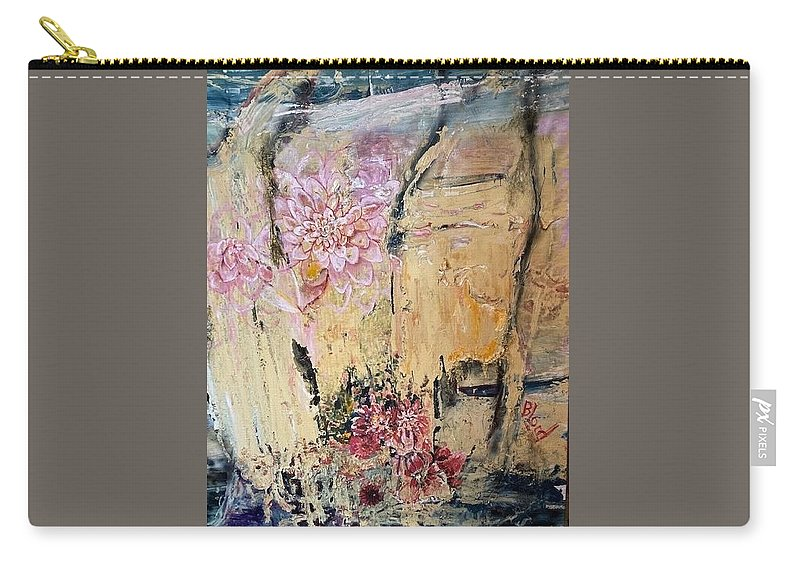 Landscape Carry-all Pouch featuring the painting Delilah by Peggy Blood