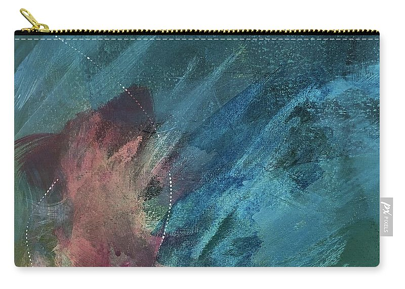Abstract Carry-all Pouch featuring the painting Depths of My Soul by Carolyn Rhinebarger
