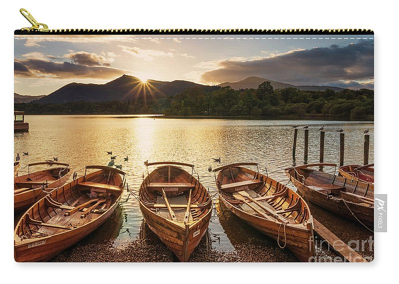 Tranquil Carry-all Pouch featuring the photograph Derwent Water Rowing Boats, Keswick, English Lake District by Neale And Judith Clark