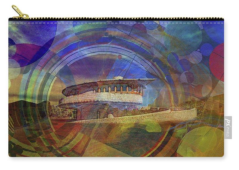 Affordable Art Carry-all Pouch featuring the digital art Desert Flower by John Robert Beck