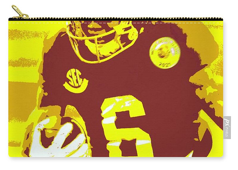 Devonta Smith Carry-all Pouch featuring the painting DeVonta Smith by Jack Bunds