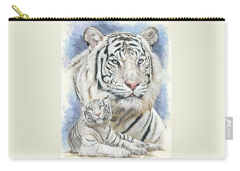 Big Cat Carry-all Pouch featuring the mixed media Dignity by Barbara Keith