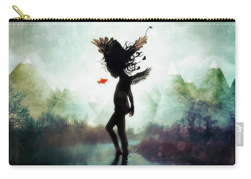 Digital Art Carry-all Pouch featuring the digital art Discovery by Mario Sanchez Nevado