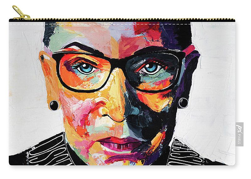 Portrait Carry-all Pouch featuring the painting Dissent by LA Smith