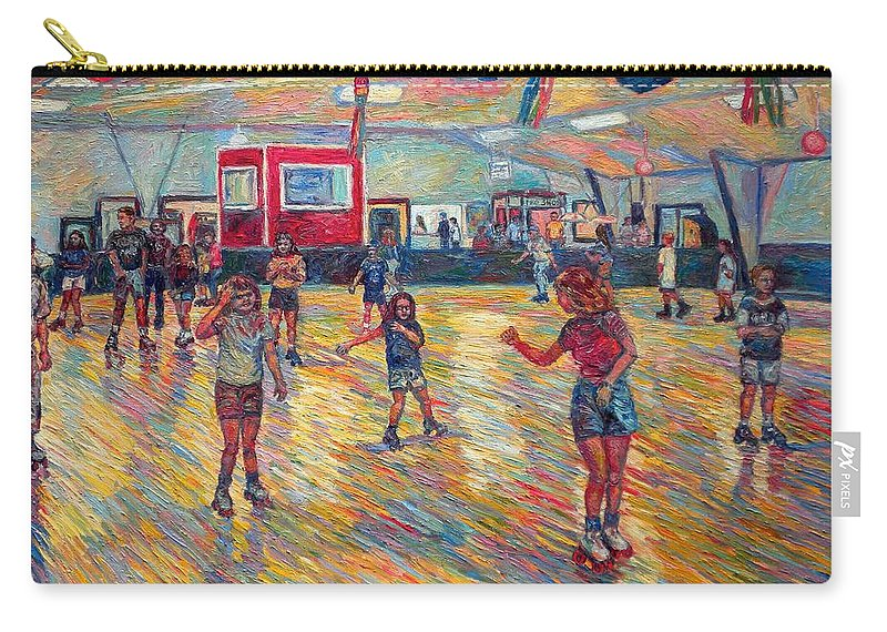 Figure Carry-all Pouch featuring the painting Dominion Skating Rink by Kendall Kessler