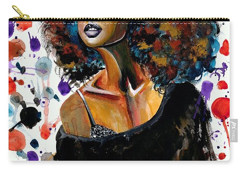 Sexy Carry-all Pouch featuring the painting Dope Chic by Artist RiA