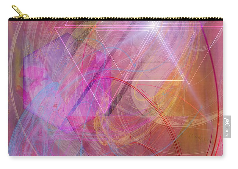 Dragon's Gem Carry-all Pouch featuring the digital art Dragon's Gem by John Robert Beck