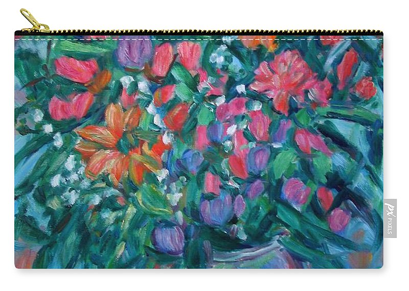 Floral Paintings Carry-all Pouch featuring the painting Dream Bouquet by Kendall Kessler