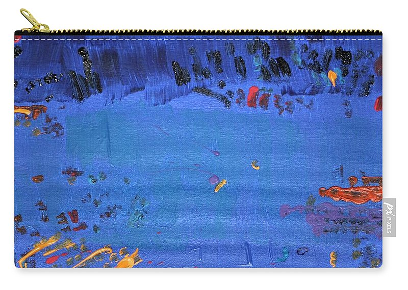 Blue Carry-all Pouch featuring the painting Dry Heat by Pam Roth O'Mara