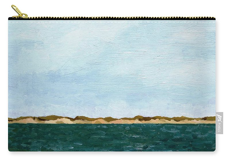 Lake Carry-all Pouch featuring the painting Dunes of Lake Michigan with Big Sky by Michelle Calkins