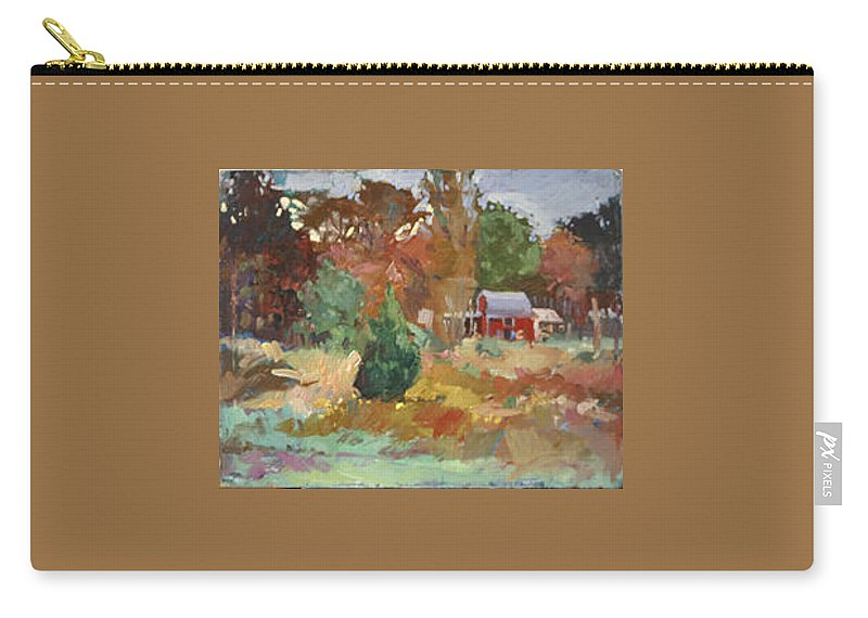 Impressionism Carry-all Pouch featuring the painting Eastern Shore Hideaway by Betty Jean Billups