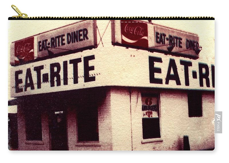 Polaroid Transfer Carry-all Pouch featuring the photograph Eat Rite by Jane Linders